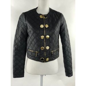 BISOU BISOU MICHELE BOHBOT FAUX JACKET BLACK